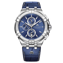 Load image into Gallery viewer, Maurice Lacroix - Aikon Chronograph Quartz - 44mm - Blue Dial - Blue Leaher Strap - AI1018-SS001-430