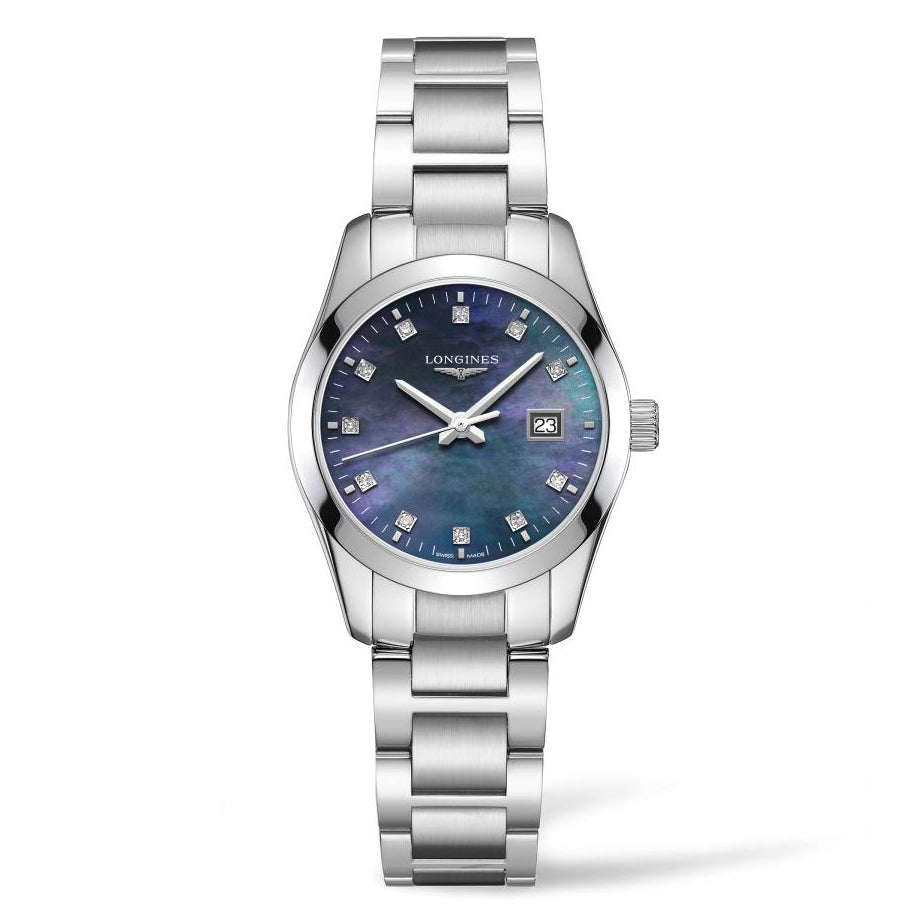 Longines Conquest Classic - Blue MOP Diamond Dial Lady's watch 29.5mm