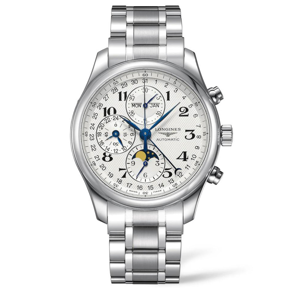 Longines Master Collection - Automatic Chronograph - Silver Dial 42mm Steel Bracelet