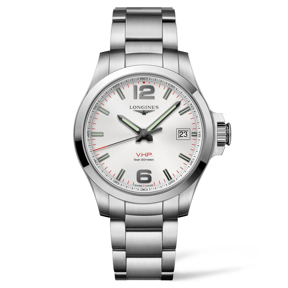 Longines Conquest V.H.P. - Automatic - Silver Dial Men's Watch 41mm