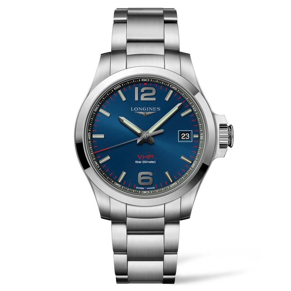 Longines Conquest V.H.P. - Automatic - Blue Dial Men's Watch 41mm