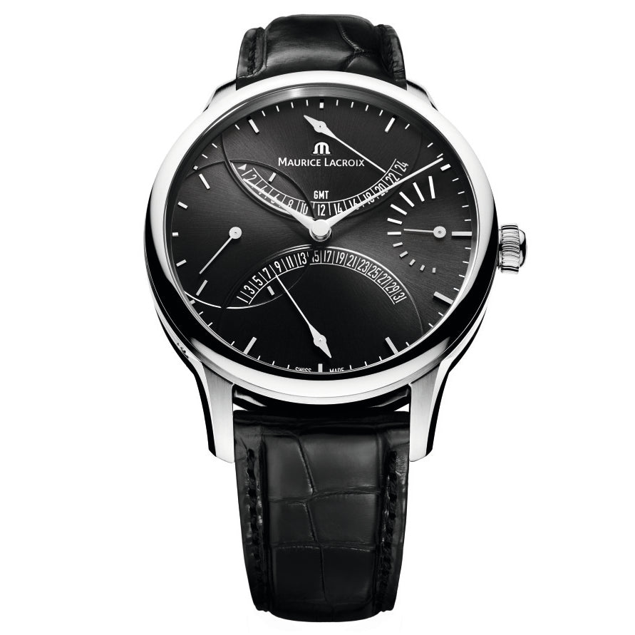 Maurice Lacroix - Masterpiece Double Retrograde -  Black Dial - Leather - MP6518-SS001-330
