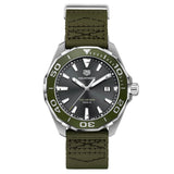 Tag Heuer - Aquaracer - Aluminum Bezel - Khaki textile - 41mm watch - WAY101L.FC8222