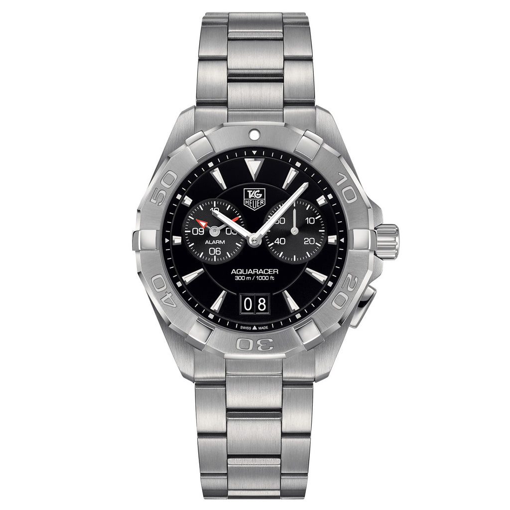 Tag Heuer - Aquaracer - Swiss Quartz - Steel Bracelet - 40.5mm Alarm watch - WAY111Z.BA0928