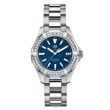 Load image into Gallery viewer, Tag Heuer - Aquaracer - Stainless Steel - MOP Dial - Diamond Bezel watch 35mm - WAY131N.BA0748