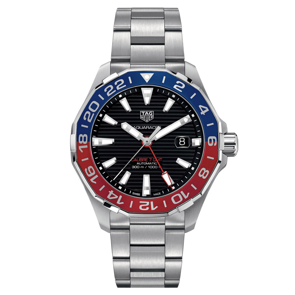 Tag Heuer - Aquaracer - Aluminum Bezel - Automatic GMT watch 43mm - WAY201F.BA0927