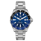 Tag Heuer - Aquaracer - Aluminum Bezel - Automatic GMT watch 43mm - WAY201T.BA0927