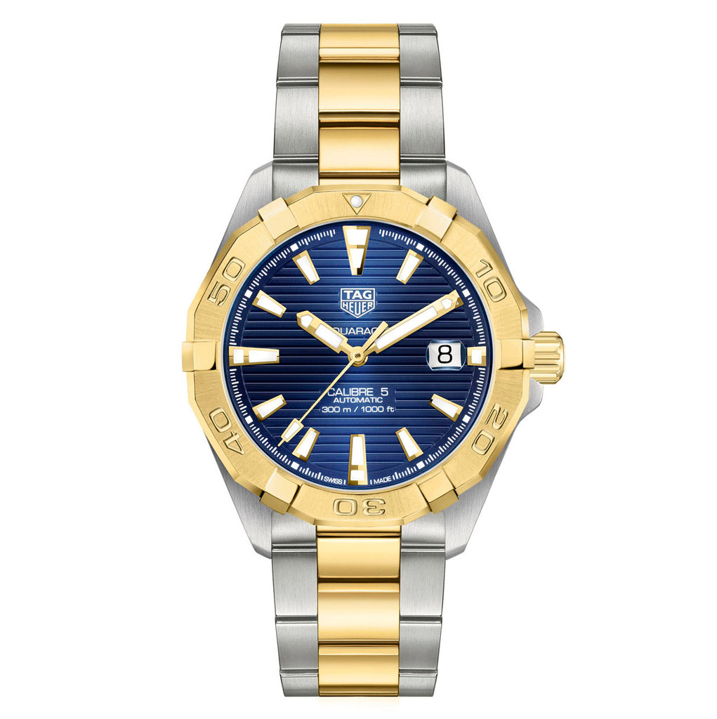 Tag Heuer - Aquaracer - Gold Plated Bezel - Automatic watch - 41mm - WBD2120.BB0930