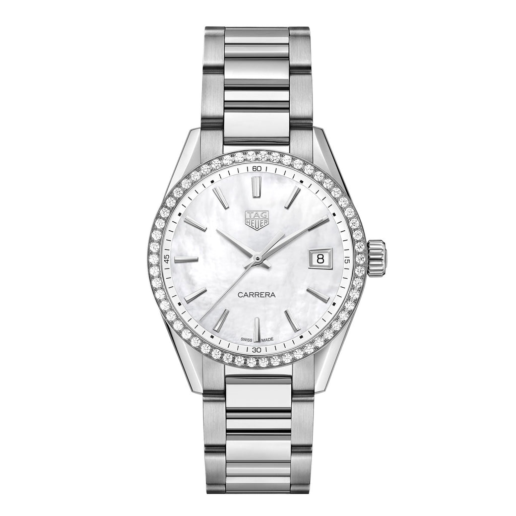Tag Heuer - Carrera 36mm Quartz watch - Stainless Steel Case & Bracelet watch - Diamond Bezel - WBK1316.BA0652