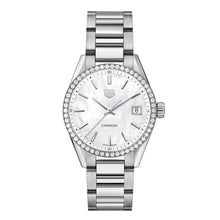 Load image into Gallery viewer, Tag Heuer - Carrera 36mm Quartz watch - Stainless Steel Case & Bracelet watch - Diamond Bezel - WBK1316.BA0652
