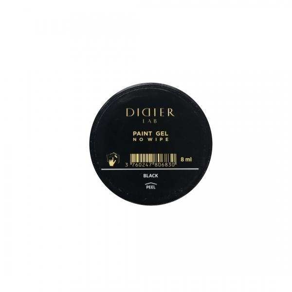 "No wipe paint gel ""Didier lab"", black, 8 ml"