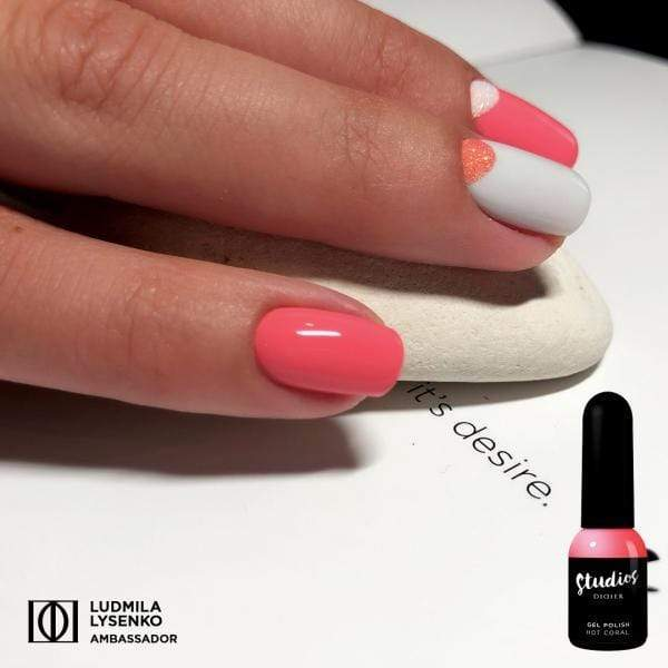 Didierlab Coral Collection Limited Edition Gel polish Studios, Hot coral,  8ml