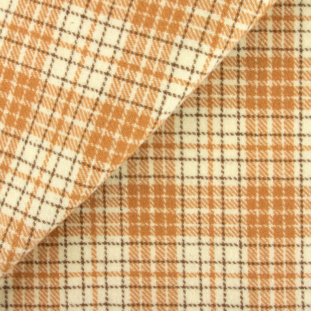 BUTTERSCOTCH, CREAM & BROWN PLAID