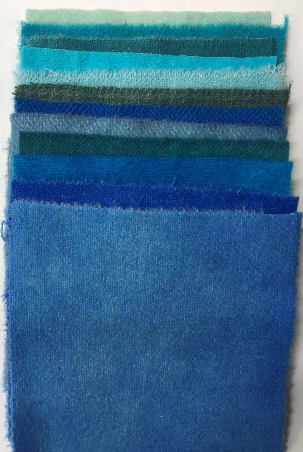 "Caribbean 5"" Square Hand Dyed Wool Pack"
