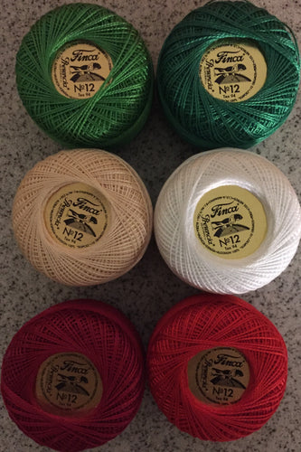 Finca Perle Cotton #12 Christmas Set