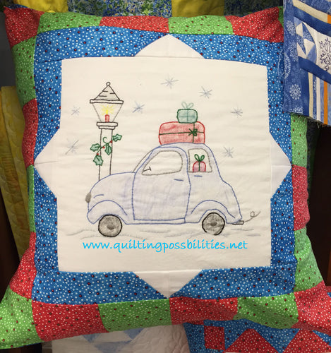 Christmas Vacation Embroidery Pillow Kit