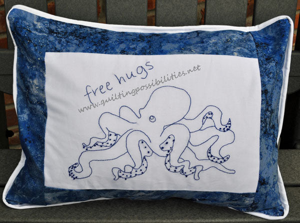 Octopus Bluework Pillow by QP Design Studio