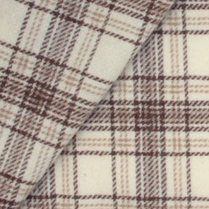 Glen Plaid Felted Wool Made in the USA