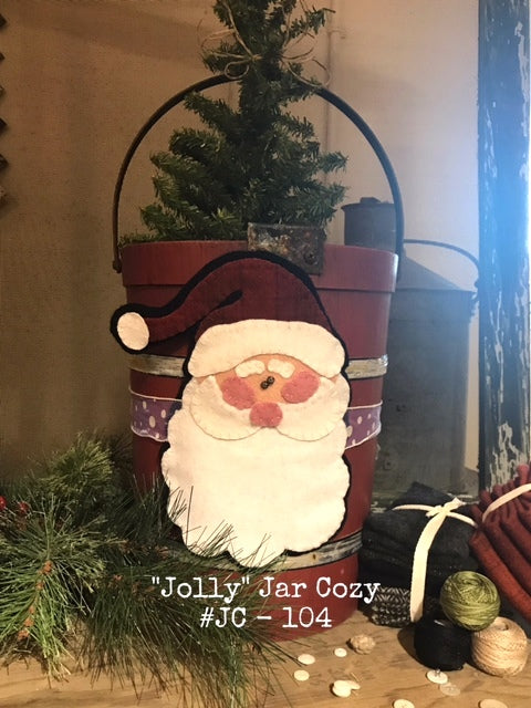 Jolly Jar Cozy by As The Crow Flies