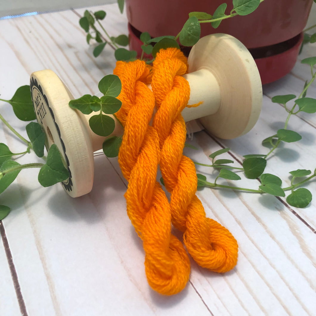 Orange Peel Hand Dyed Wool Thread