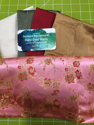 Crazy Quilt Pink Roses Collection