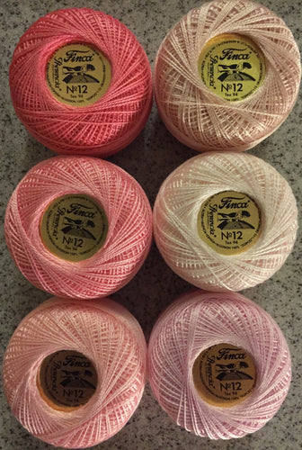 Finca Perle Cotton #12 Pink Collection