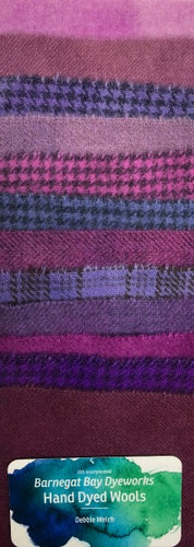 "Purple 5"" Squares Hand Dyed Wool Pack"