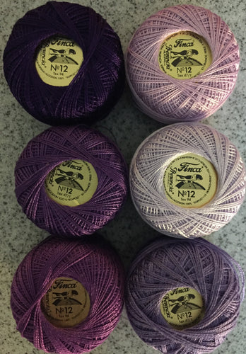 Finca Perle Cotton #12 Purples Collection