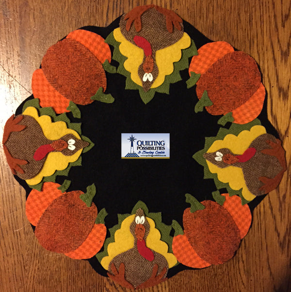 Wool Stuffed Turkey Mat Kit