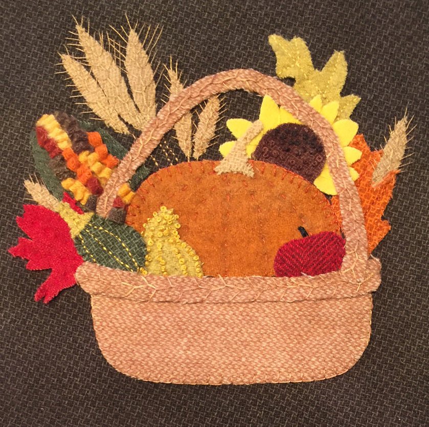 Basket of Plenty Wool Applique Kit