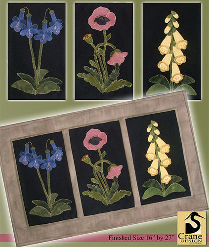 English Flower Garden Wool Applique PT