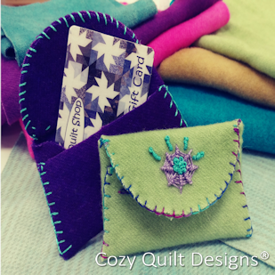 Wooly Gift Card Holder by Cozy Quilt Designs