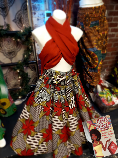 Skirt with headwrap