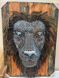 Lion Head Wall Art 30h x 21w