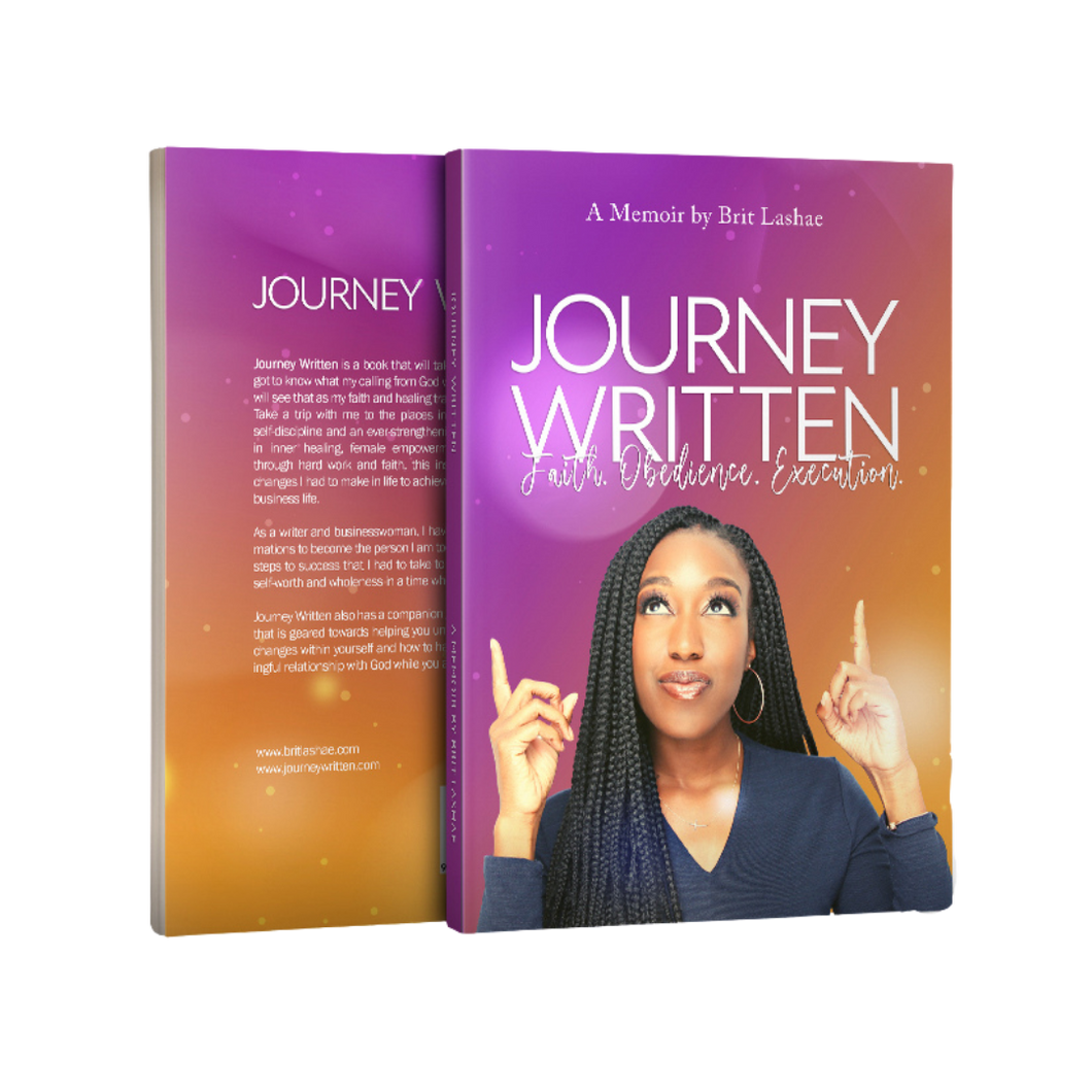 Journey Written Memoir & Guided Journal by Author Brit Lashae | Book of Faith