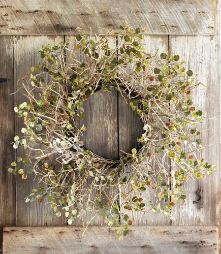 Birch Branch Wreath w/Mini Leaves 26