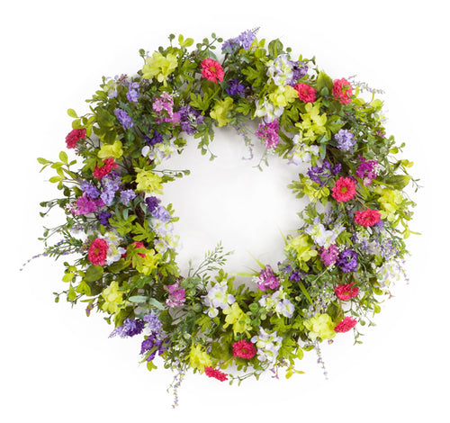 Mixed Floral Wreath 28