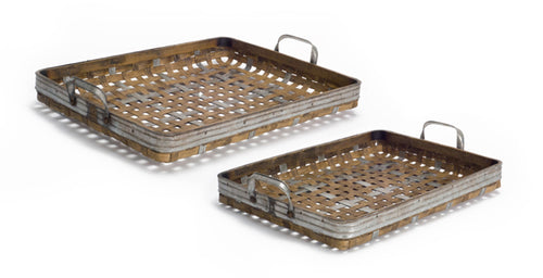 Woven Tray (Set of 2) 18.5