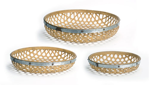 Round Woven Tray (Set of 3) 17