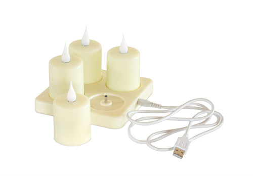 Candle (Set of 4) Rechargeable 4