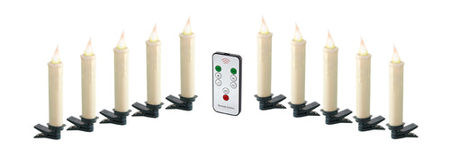 Clip-On Candle (Set of 10) 4.5