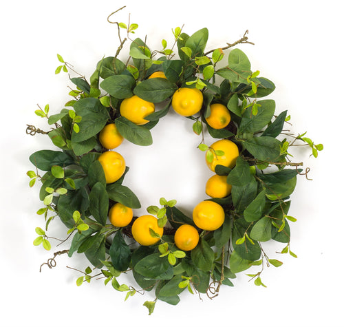 Lemon Wreath 24