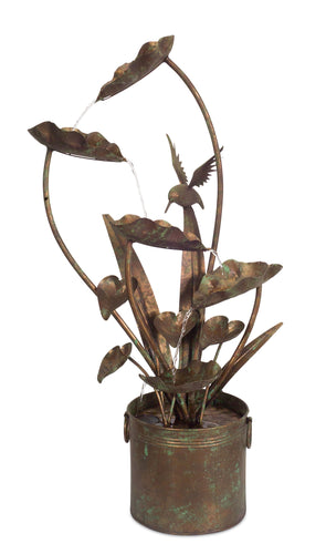 Anthurium and Hummingbird Fountain 39.5