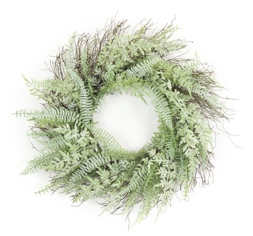 Mixed Fern Wreath 24