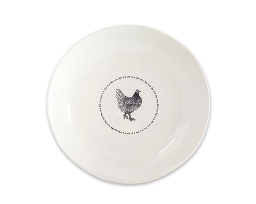 Chicken Round Platter (Set of 2) 13.25
