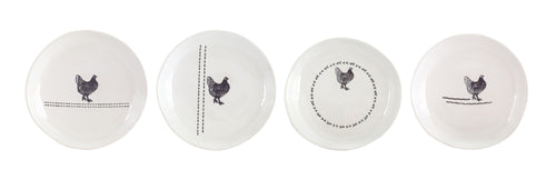 Chicken Plate (Set of 8) 6.5