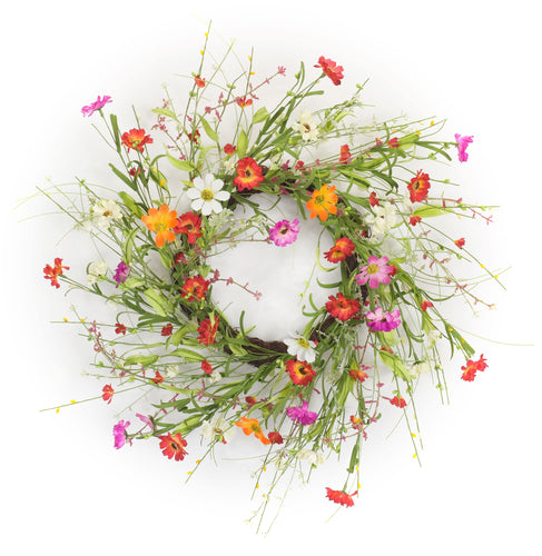 Mixed Floral Wreath 22.5
