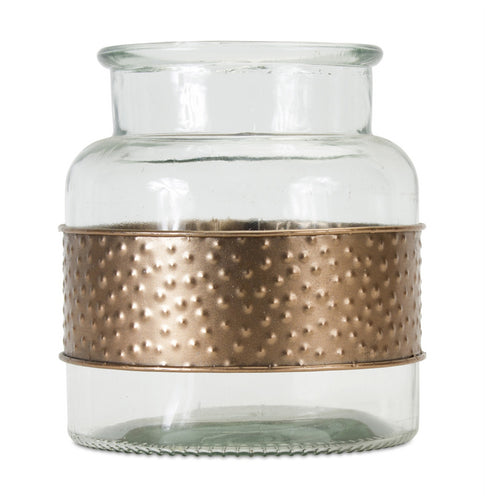 Jar With Metal Wrap (Set of 2) 7.5