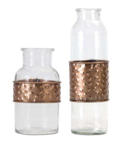 Bottle With Metal Wrap (Set of 4) 3.5