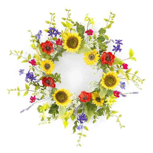 Sunflower/Poppy Wreath 22